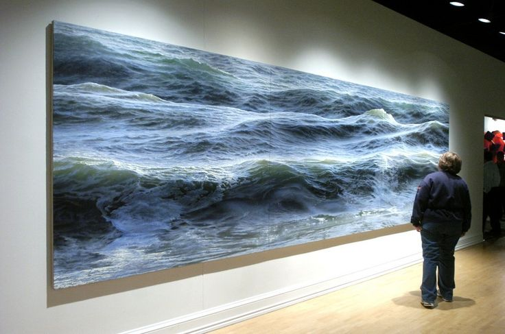 """""""Open Water"""" by Ran Ortner. This is a 19- foot painting, not a photograph. This was the winning entry for the 2009 ArtPrize."""