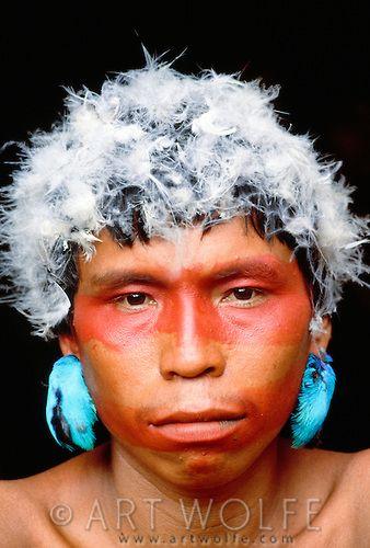 Portrait of a Yanomamo man, Parima-Tapirapeco National Park, Venezuela  ZBOOTR1_40151.psd | Art Wolfe Stock Photography 888-973-0011