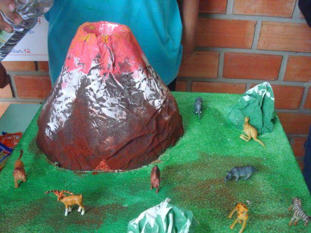 Como fazer um vulcão com a reação química do vinagre, bicarbonato de sódio e corante vermelho para maquetes? - ESPAÇO EDUCAR