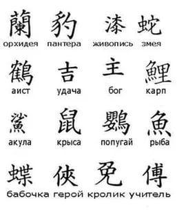 картинки китайские символы
