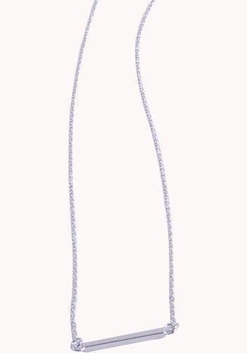 As Seen On Rihanna Horizontal Bar Necklace Silver