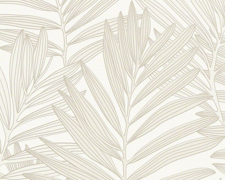 Modern Floral Wallpaper in Cream and White design by BD Wall