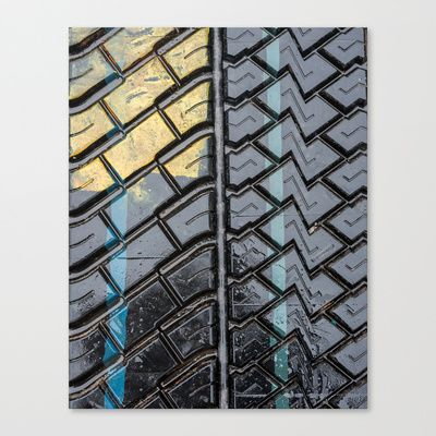 Tire Tread Canvas Print by Essentialimage(™) - $85.00