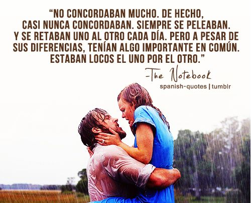citas de peliculas diario de una pasion q spanish quotes the notebook