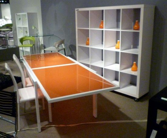 die farbe orange fr ihr esszimmer orange minimalistisch esstisch hochglanz - Esszimmer Orange