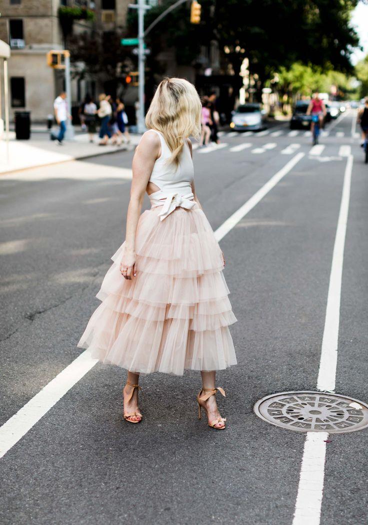 Layered tulle skirt