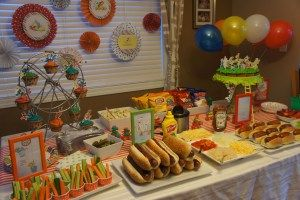 Go Dog Go party food including big dogs and little dogs - dolledupdesign