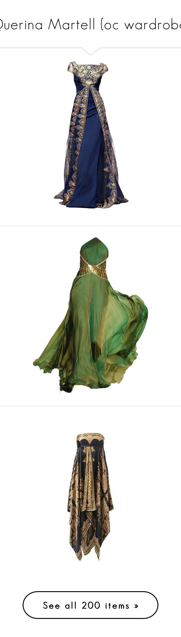 """""""Querina Martell {oc wardrobe}"""" by i-love-stan-the-man ❤ liked on Polyvore featuring gowns, dresses, long dresses, green, long green evening dress, roberto cavalli evening dresses, green gown, green ball gown, roberto cavalli evening gowns and vestidos"""