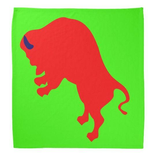 #zazzle #Red #Bull #Bandana,#Green #Bandana #head #green #bull #gift #giftidea