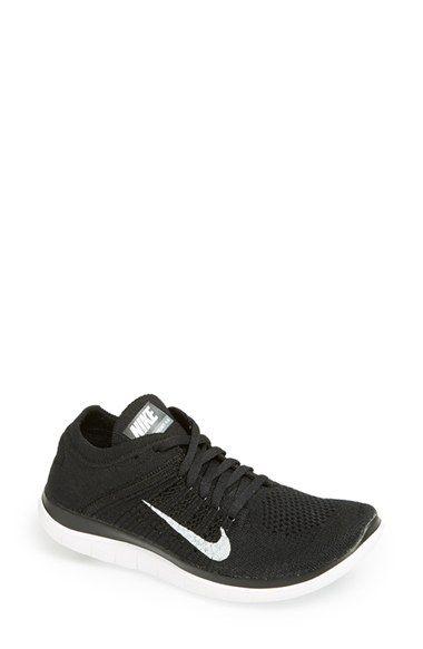 Nike 'Free Flyknit 4.0' Running Shoe mesh/textile black/grey/white, white/black/volt (120.00) NA 1/16