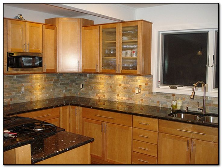 Oak Cabinets With Granite Countertops Home And Cabinet Reviews Oak Kitchen Cabinets Wood