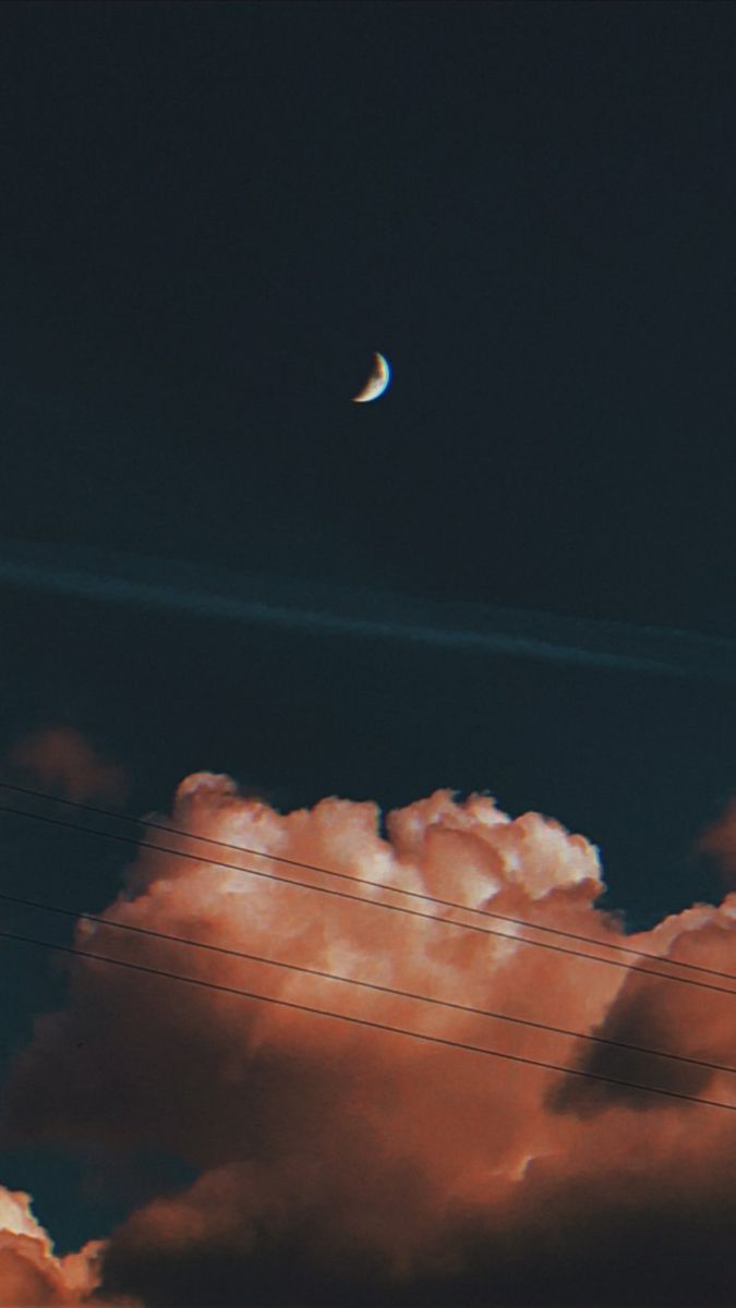 sky wallpapers aesthetic tumblr clouds moon   Picture cloud ...