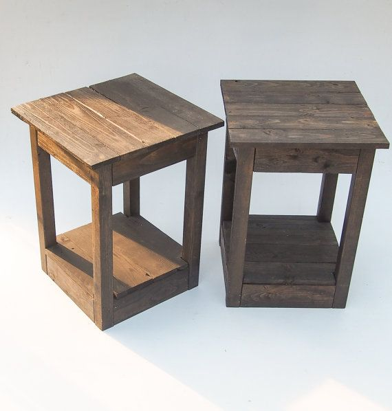 Handmade Black Wooden Bedside Tables. Reclaimed Pallet Wood. Rustic  Shabby Chic Tables For The Home, Living Room Or Bedroom on Etsy, $206.90