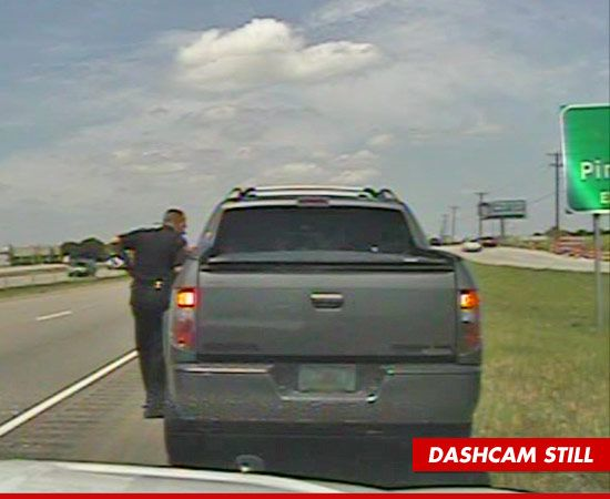 Celebrity gossip site TMZ is reporting that George Zimmerman has been stopped by Texas cops Sunday for speeding.