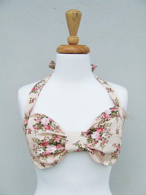 Vintage Bow Bandeau Sunsuit Bikini style. DiVa by PitaPataDiVa