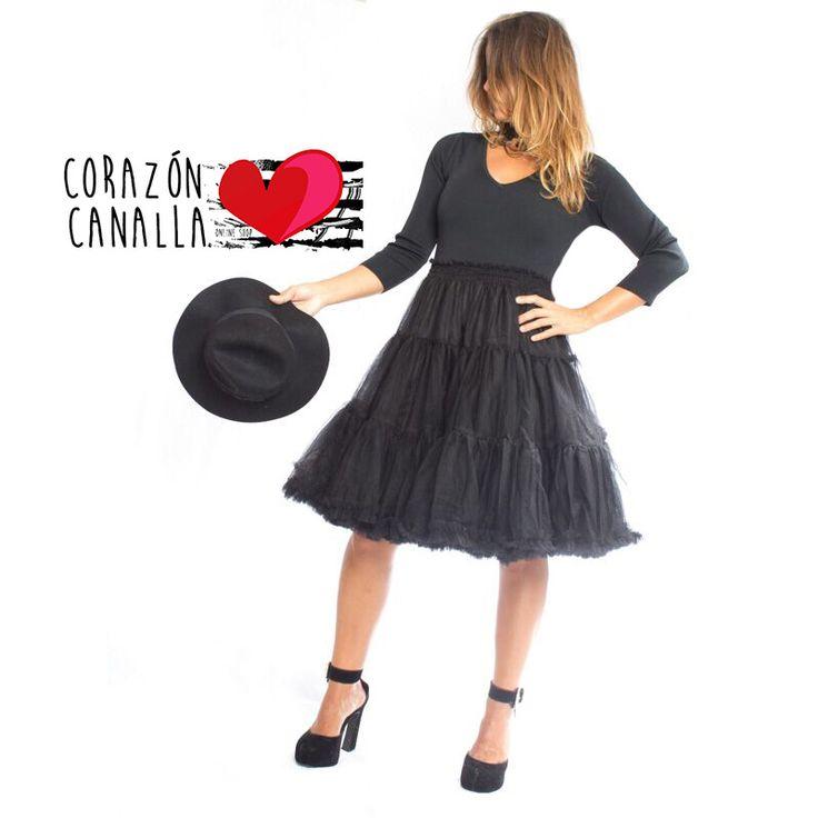 Vestido tule negro en www.corazoncanalla.com