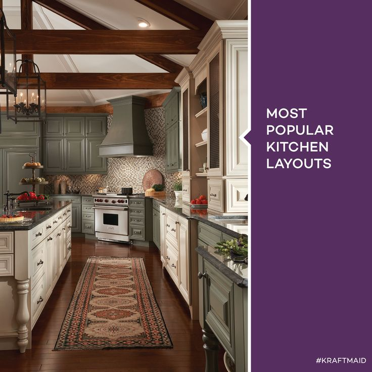 7 Best Most Popular Kitchen Layouts Images On Pinterest