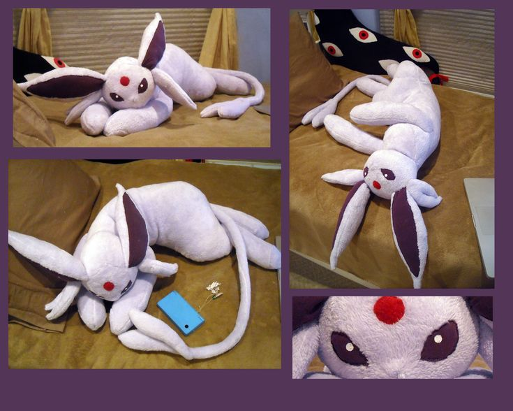 Life Size Espeon Plush by ~Sareii on deviantART | O melhor do mundo dos animes: www.facebook/nobreakanime