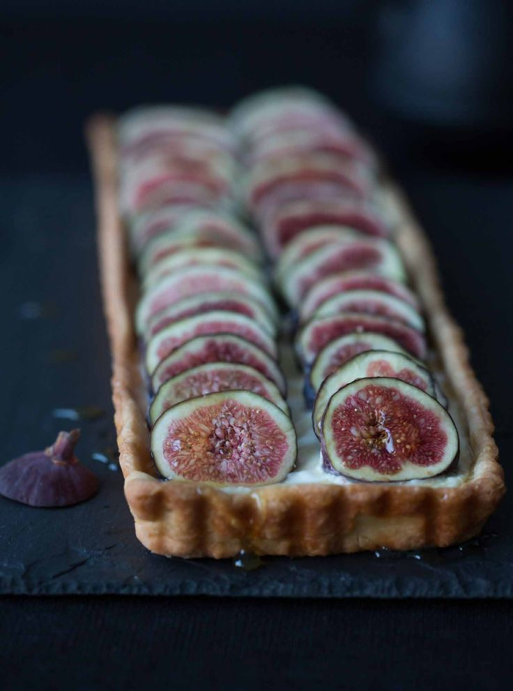 fig tart honey tarts sweet food recipes figs