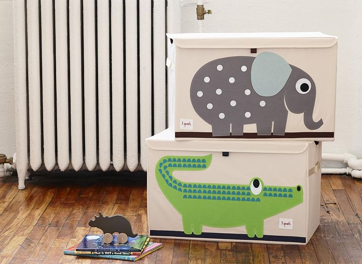 Toy Chest Elephant and Crocodile