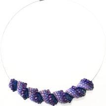 Cellini Spiral, beaded beads, beaded necklace, Ciondolo Perline, Beading Pendant, bead embroidery - by machegioia® - crystal-mandala.com