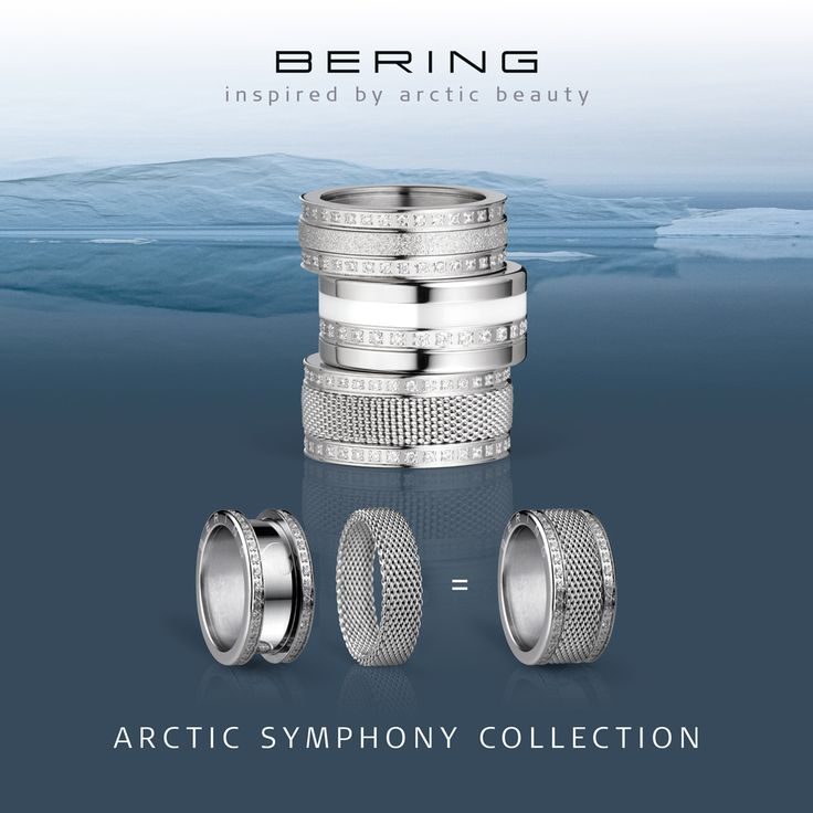 Arctic Symphony Collection; Rings for women; Twist & Change; BERING
