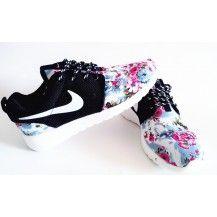 Nike Roshe Run London Olympics Trainers Floral Black
