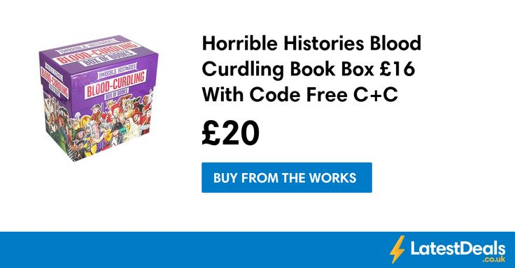 Horrible Histories Blood Curdling Book Box £16 With Code Free C+C, £20 at The Works
