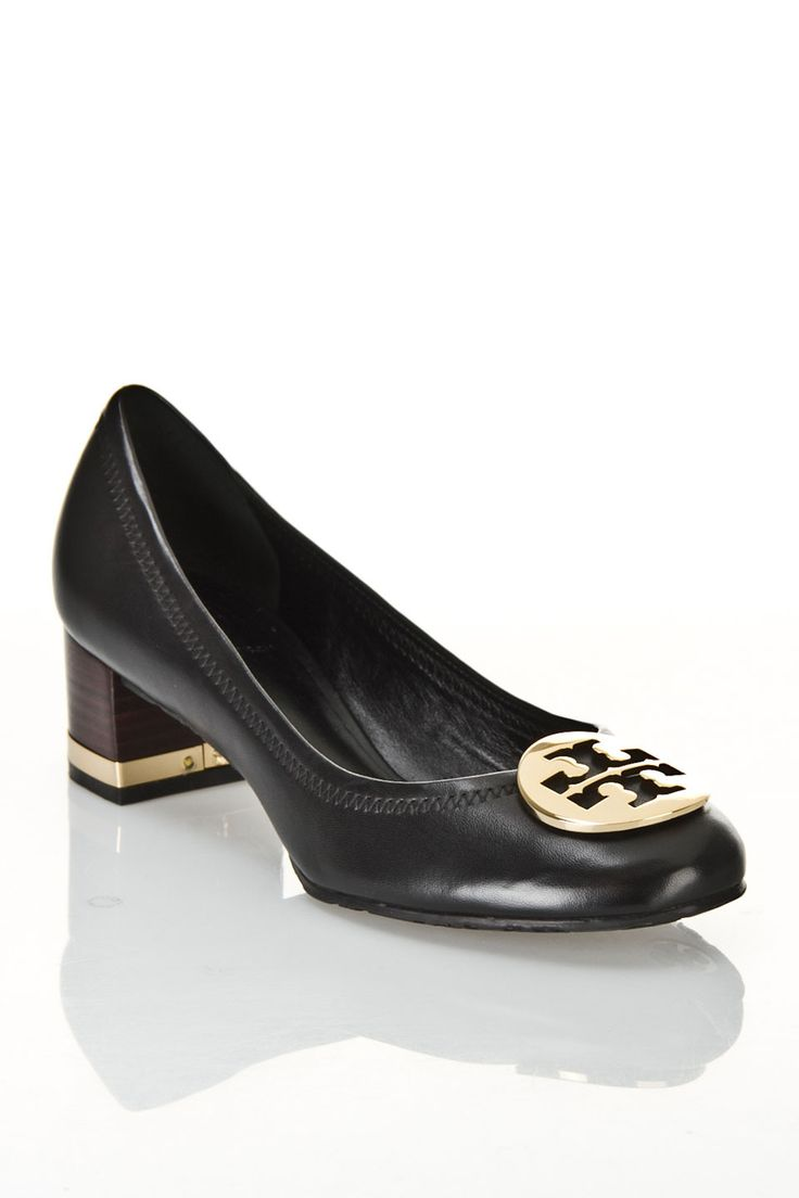 Tory Burch Basic Amy Mestico Pumps in Black and Gold - Beyond the Rack