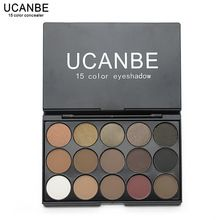 UCANBE Marca New Fashion 15 Terra Cor Matte Pigment Glitter Eyeshadow Palette Cosméticos Set Maquiagem Nude Sombra de Olho paletas alishoppbrasil