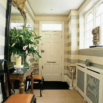 Several ideas for wall treatments with paint and other materials.