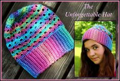 Crochet Supernova: The Unforgettable Hat ~FREE PATTERN~Uses one skein Red Heart Unforgettable..