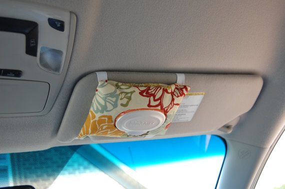 I so want this!  Wet wipes are so handy to have in the car - to clean your hands after pumping gas or eating, or to use to clean up spills!  I love that it matches the car trash litter bag I pinned!:     http://www.etsy.com/listing/105657593/car-trash-litter-bag