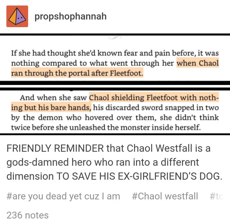 And yet, y'all say that Chaol's the worst, or that he should be the one to die out of all the main guys. Be ashamed.