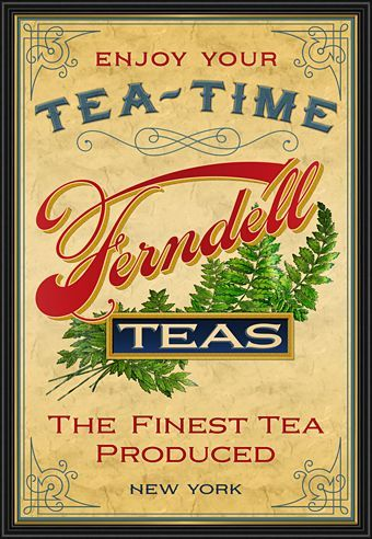 Beautiful vintage tea ad