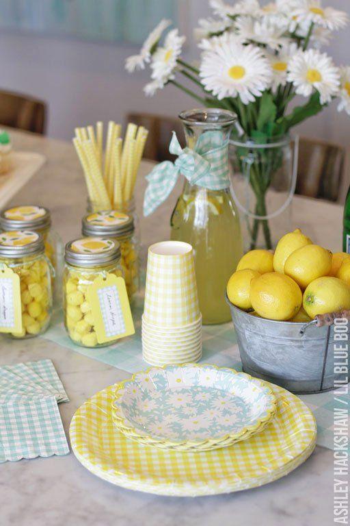 Lemon Party Decor – Martha Stewart Celebrations Mother's Day Party