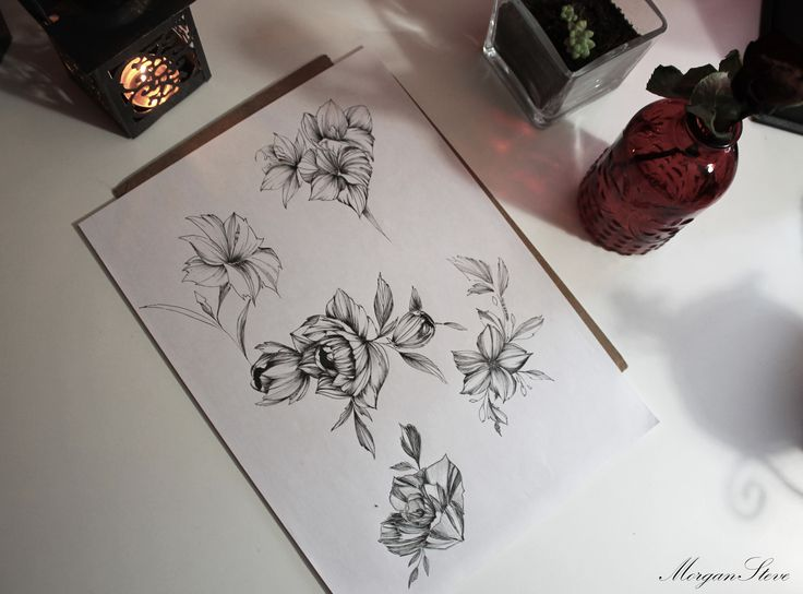 New drawing for tattoo by Morgan Steve #flower #drawing #rose #black #white