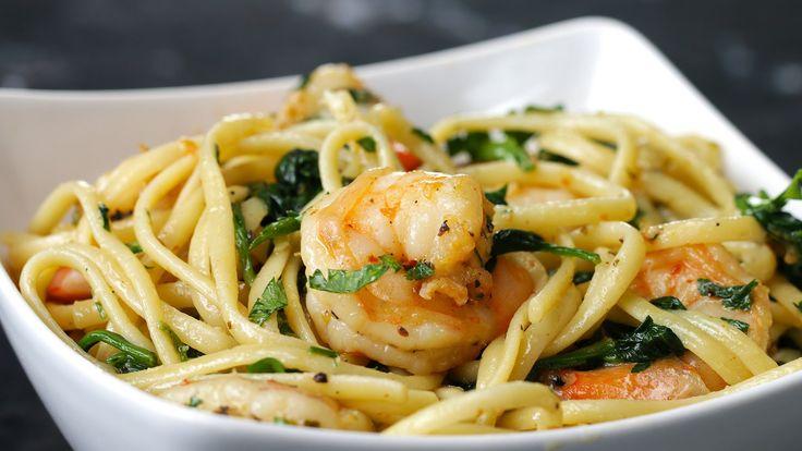 One-Pot Lemon Garlic Shrimp Pasta Servings: 4 INGREDIENTS 8 ounces linguine 2 tablespoons olive oil 8 tablespoons (1 stick) unsalted butter 4 cloves garlic, ...