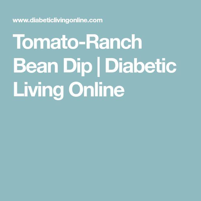 Tomato-Ranch Bean Dip | Diabetic Living Online