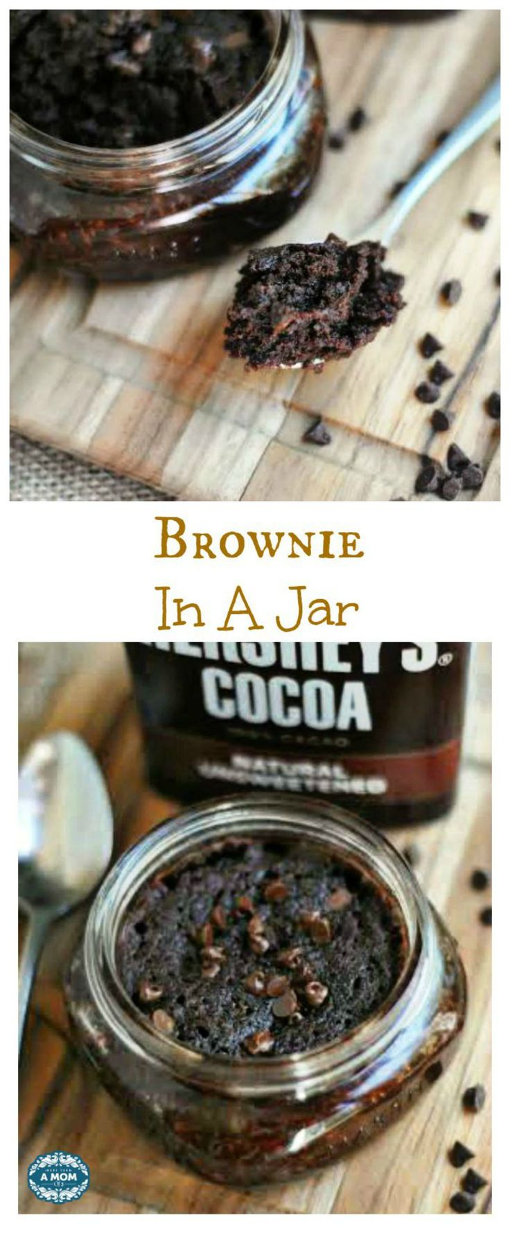 single serving brownie in a jar