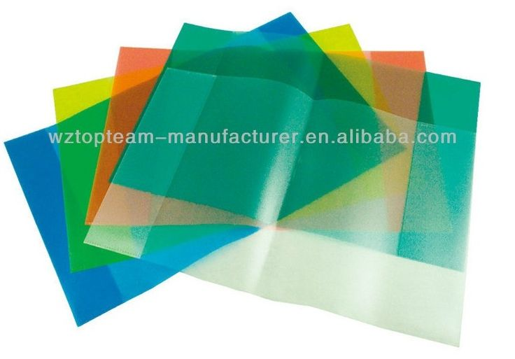 A4 A5 Clear Plastic Book Cover for School Exercise Books, PP Transparent Color Book Covers China (Mainland) Book Cover