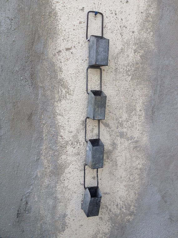 Vintage Industrial Galvanized Rain Chain by greencycledesignLA