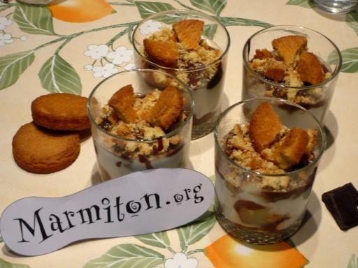 Verrines poire-chocolat : Recette de Verrines poire-chocolat - Marmiton