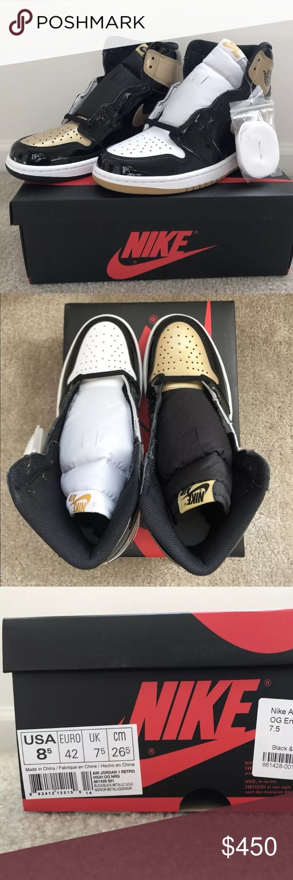 Air Jordan 1 Retro Gold Top 3s 100% Authentic 🔹 We are a very negotiable service 🔹 We provide overnight shipping and express shipping 🔹 Our transactions are made through third party applications 🔹 If you are interested in buying this product please contact us via 646-961-2836 🔹 Air Jordan Shoes Sneakers
