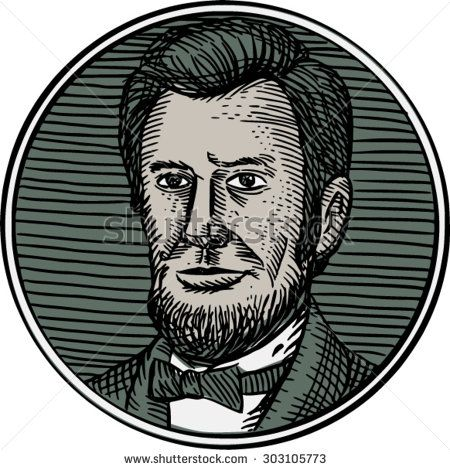 Etching engraving handmade style of a Victorian gentleman with goatee beard facing front set inside circle. #gentleman #etching #illustration