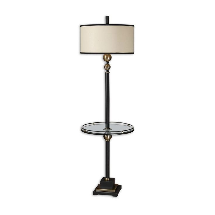 Best 25 end table with lamp ideas on pinterest teak midcentury rustic black end table with lamp aloadofball Choice Image