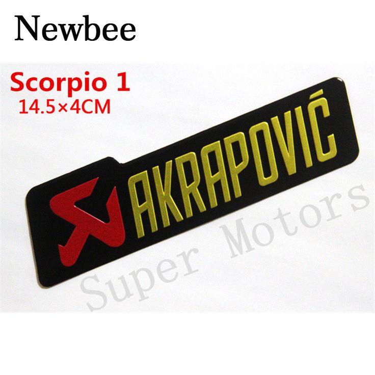 Newbee Aluminum 3D Heat-resistant Motorcycle Exhaust Pipes Sticker Cool Personality Scorpio Yoshimura Emblem Akrapovic Car Decal