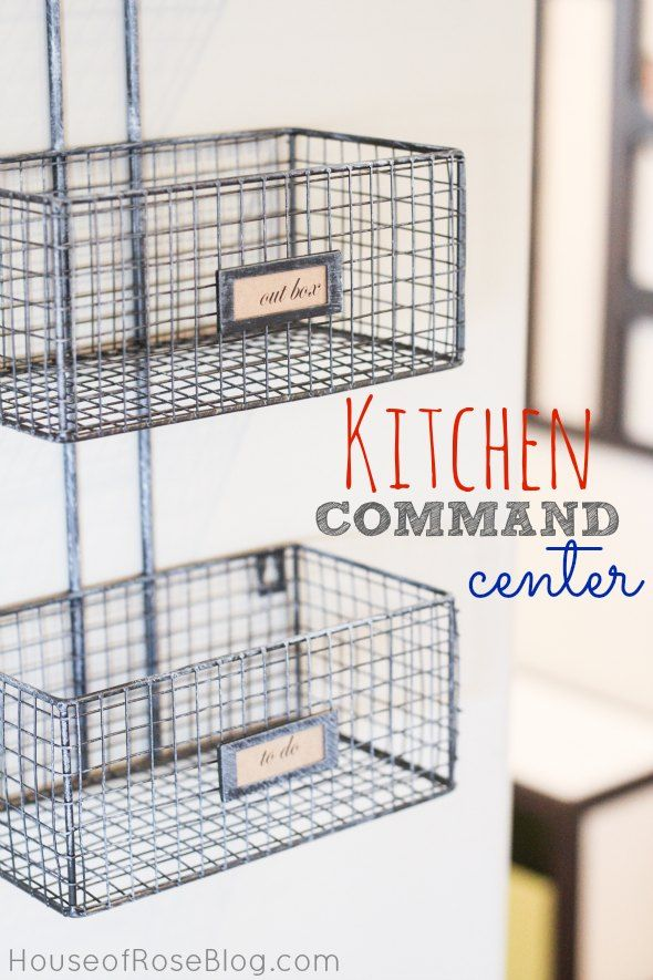 Organize Your Home With Baskets   Kitchen Command Center   Near Door Going  In/out From Garage. Maybe Do Cahlkboard Paint On Back Of That ...