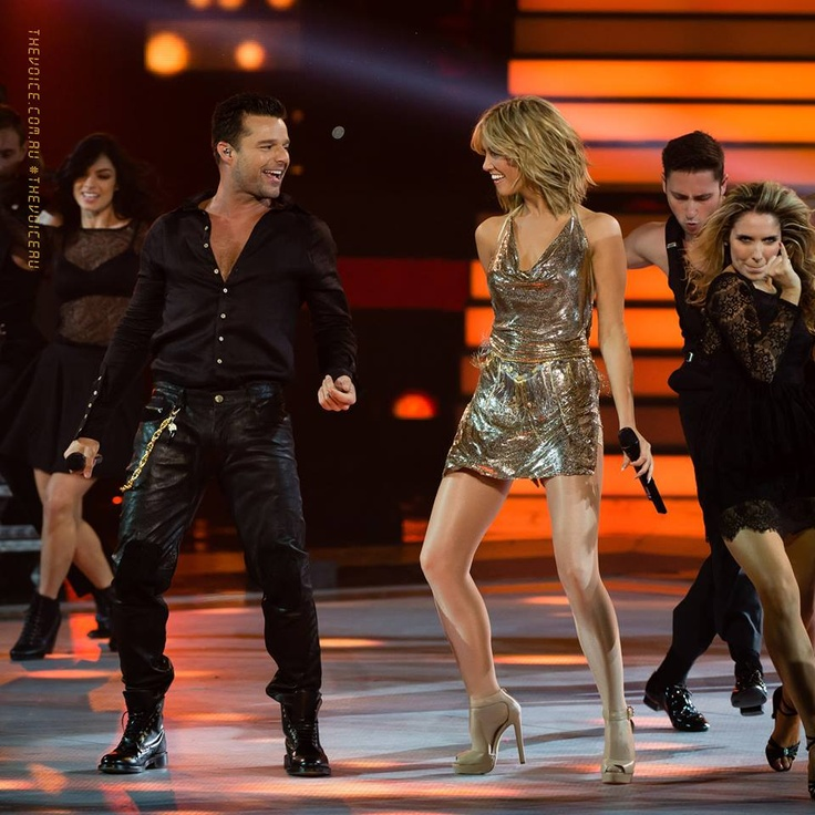 Ricky Martin and Delta Goodrem