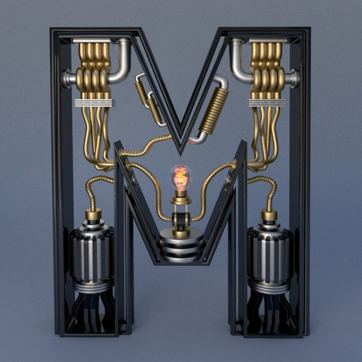 Electromechanical Type by Jose Carlos | Inspiration Grid | Design Inspiration